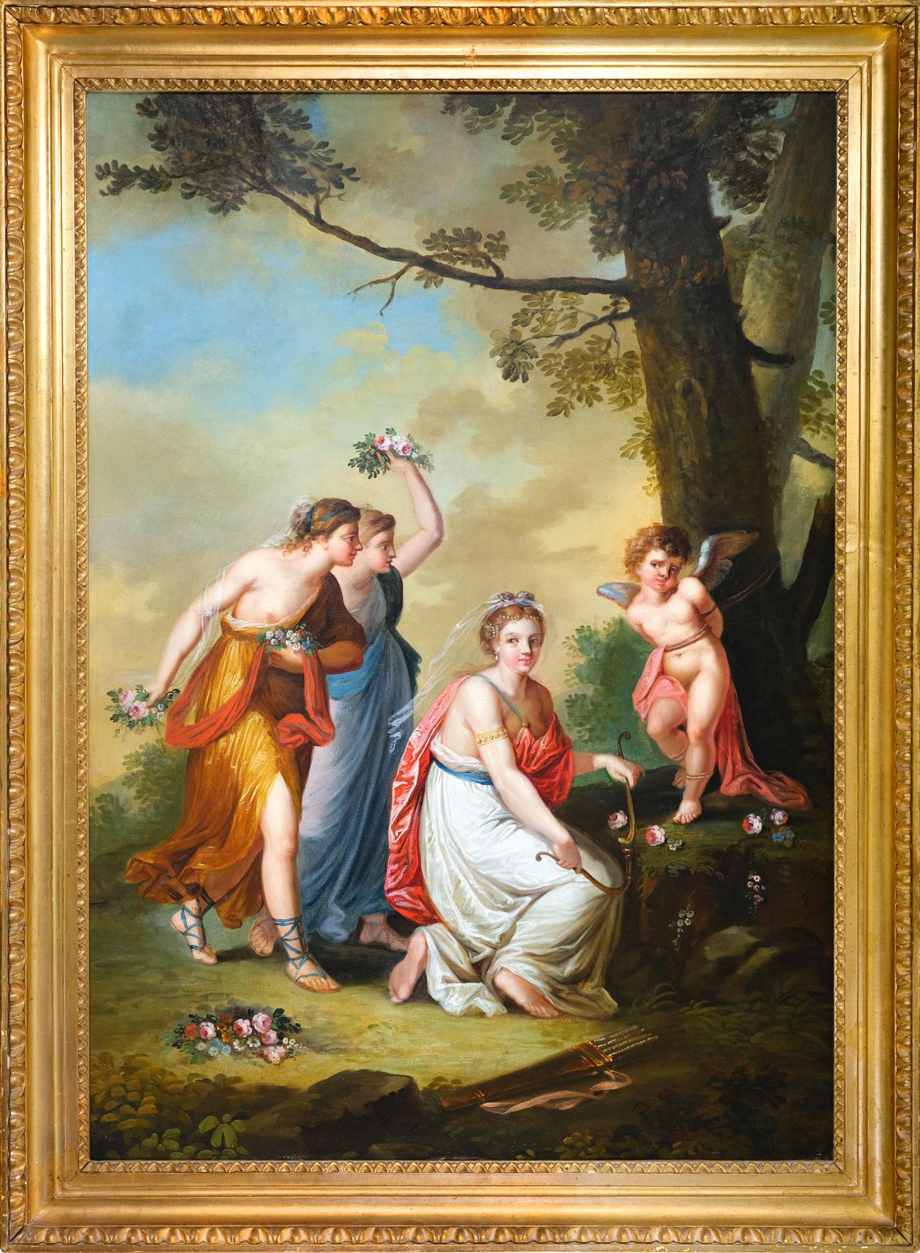 Der schlimme Amor, Gemälde, Empire um 1790/1810 - Image 2 of 3