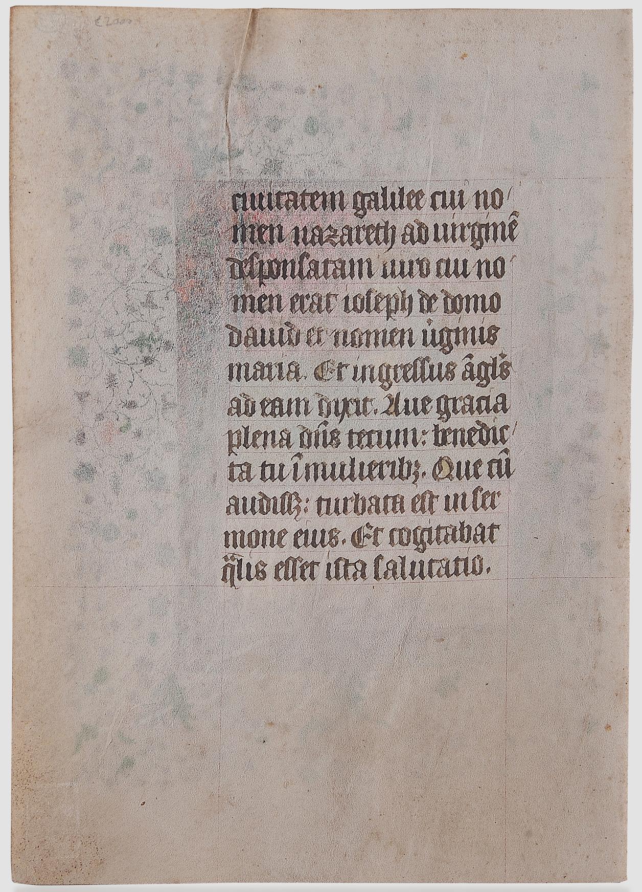 Buchmalerei, Illumination, um 1410/20 - Image 2 of 2