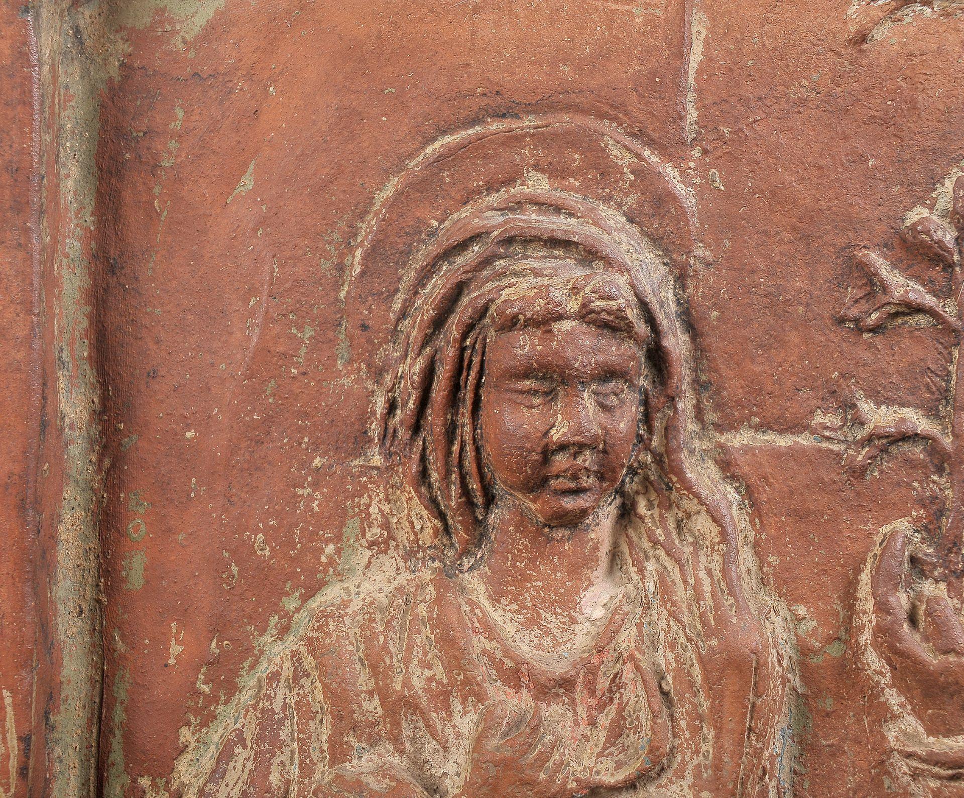 Terracotta Relief, Verkündigung Mariä - Image 6 of 9