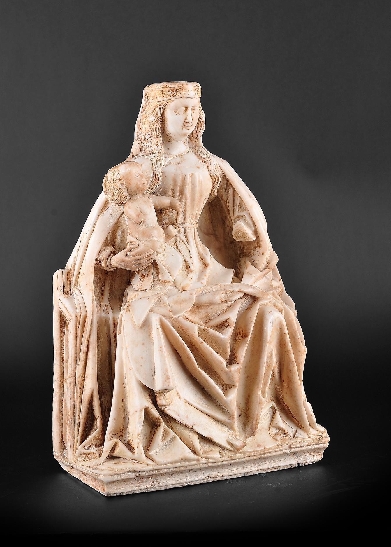 Gil de Siloe, Antwerpen 1440 – 1501 Burgos (und Werkstatt), Sitzende Madonna, um 1485/90 - Image 7 of 25