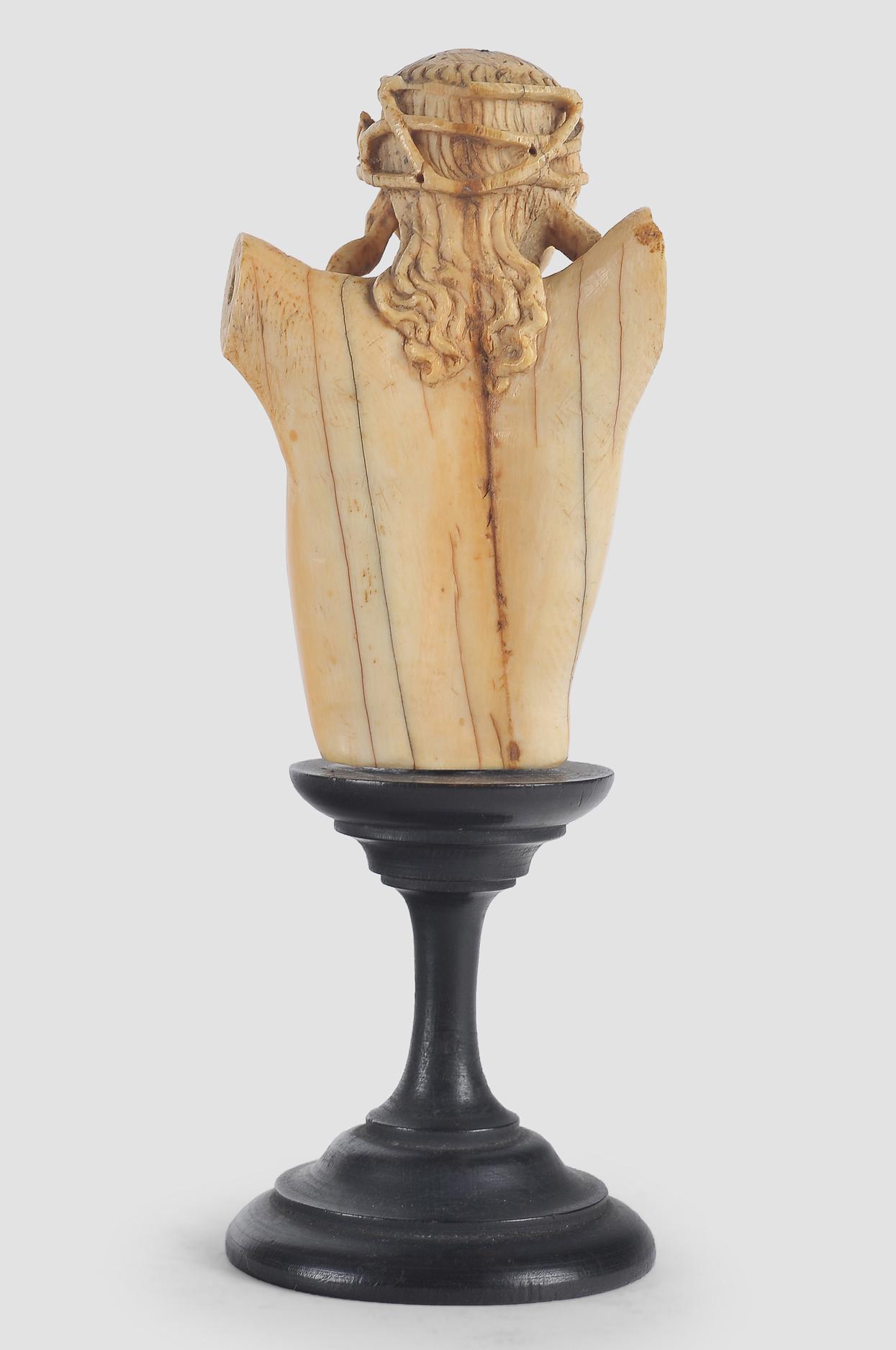 Museale Christus Büste, Spanien um 1500, Elfenbein - Image 7 of 7