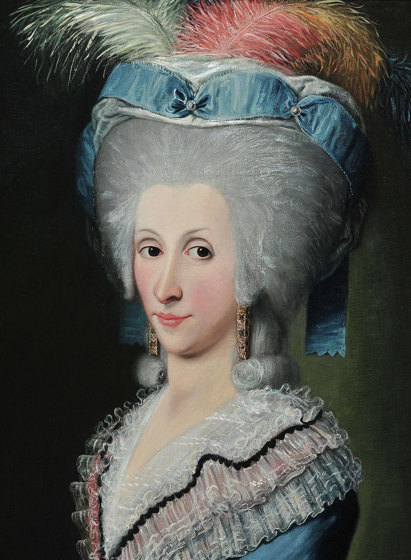Adeliges Portraitgemälde, Italien oder Donaumonarchie - Image 4 of 5