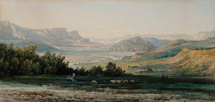 Thomas Ender, Wien 1793 – 1875 Wien, Mendole bei Tramin & Kaltern in Südtirol, Aquarell