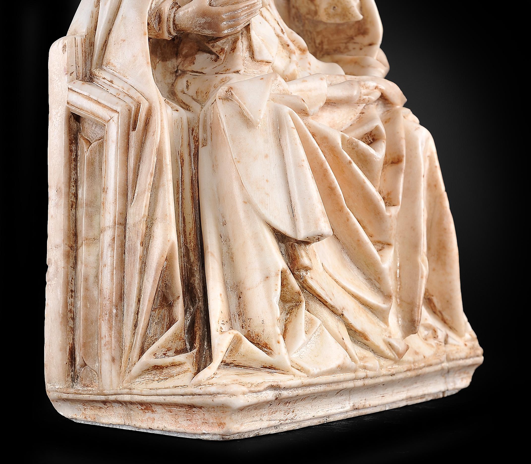 Gil de Siloe, Antwerpen 1440 – 1501 Burgos (und Werkstatt), Sitzende Madonna, um 1485/90 - Image 17 of 25