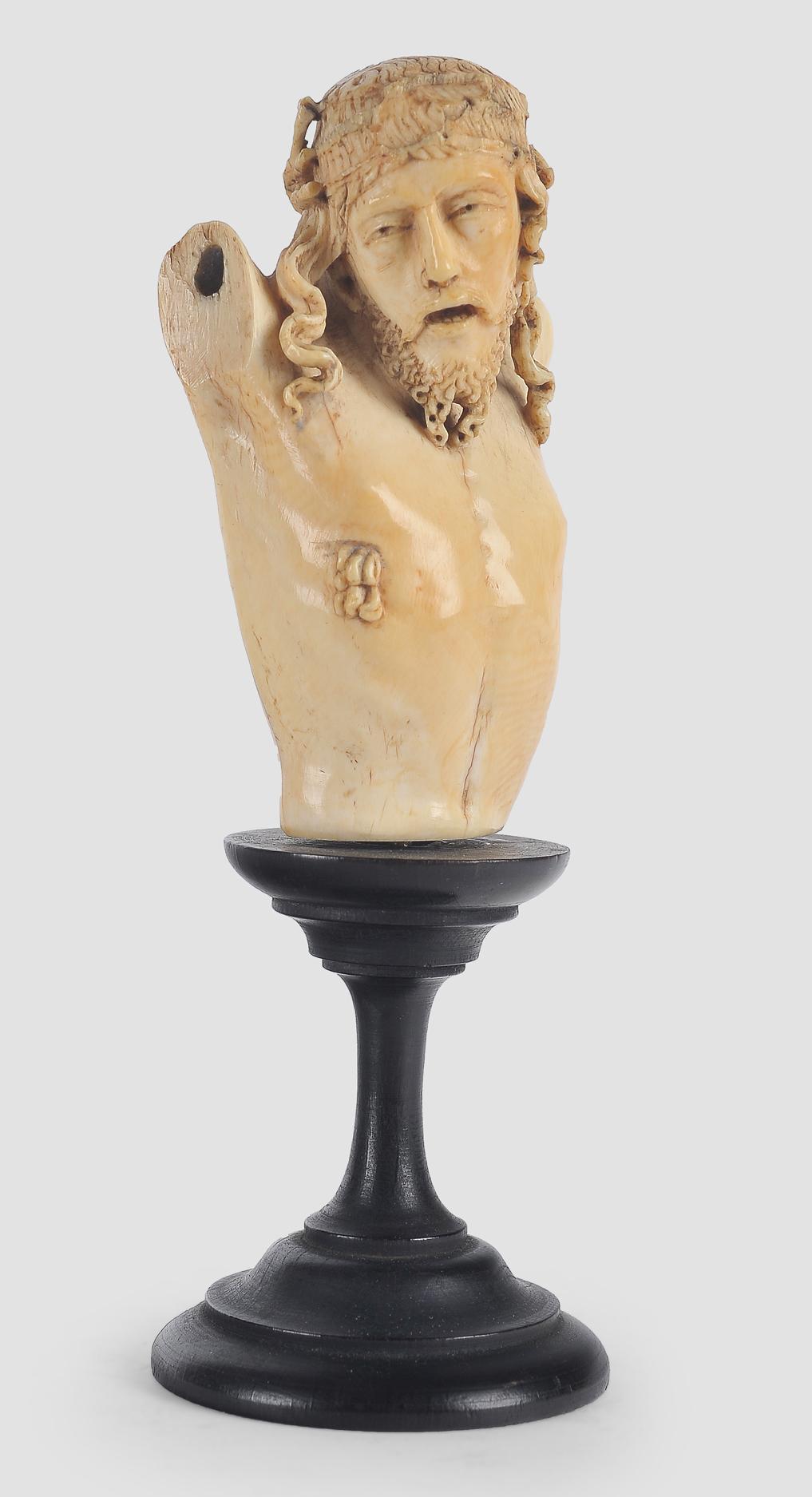 Museale Christus Büste, Spanien um 1500, Elfenbein - Image 2 of 7