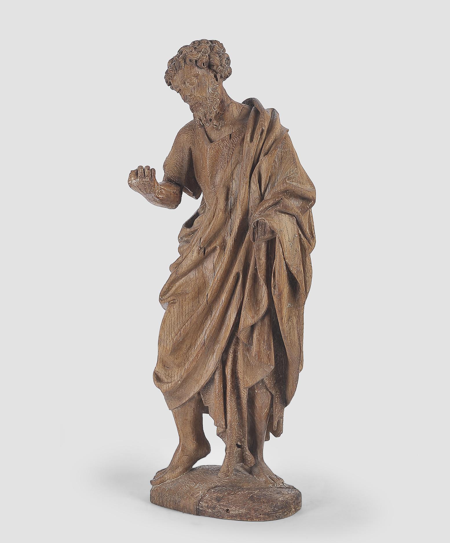 Heiliger Johannes der Täufer, Flämisch um 1500, Eichenholz - Image 2 of 6