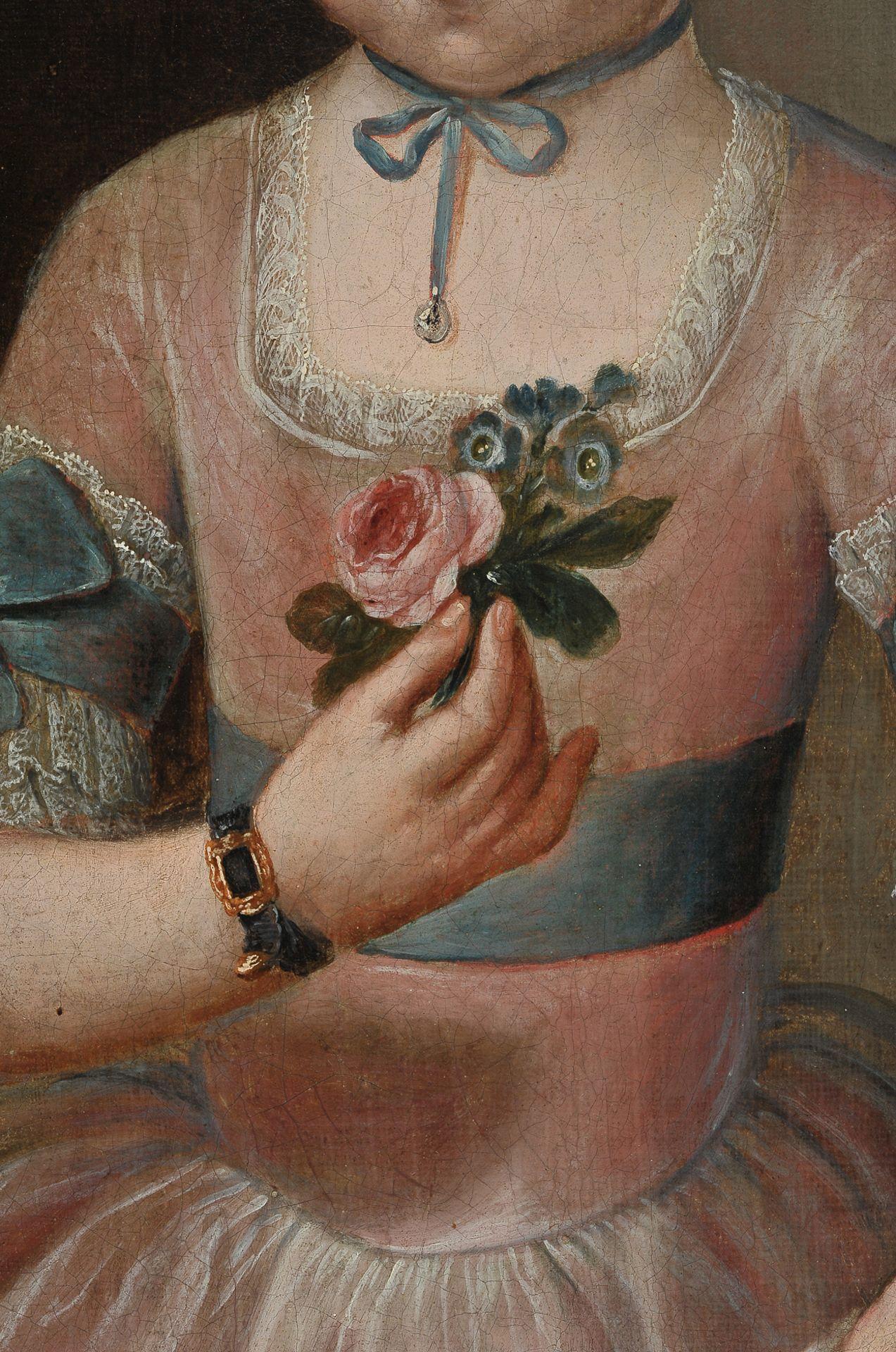 Mädchenbildnis, Österreich um 1750 - Image 4 of 6
