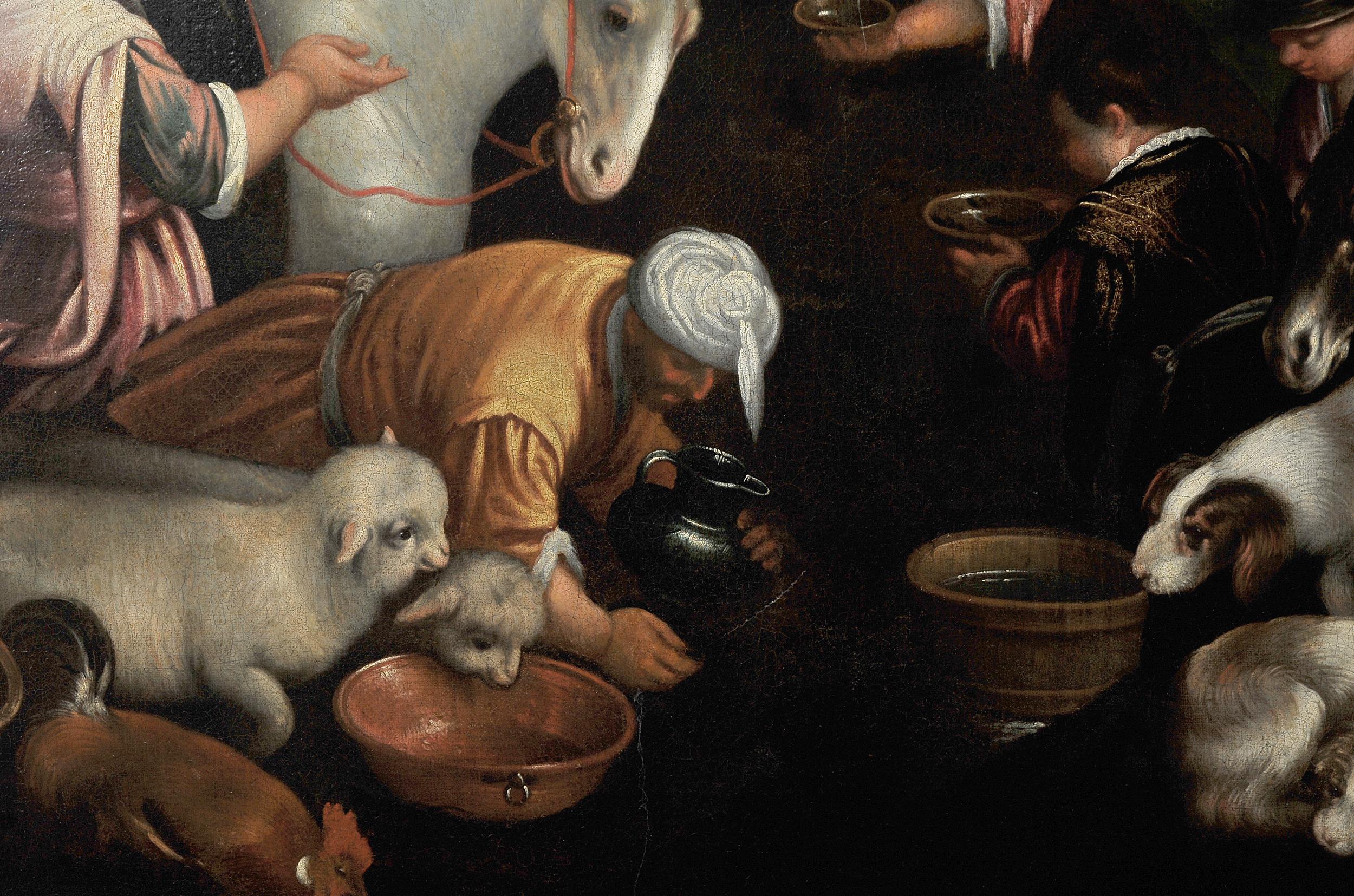 Leandro Bassano, Bassano del Grappa 1575 – 1622 Venedig (Werkstatt), Tiere an der Tränke - Image 6 of 11