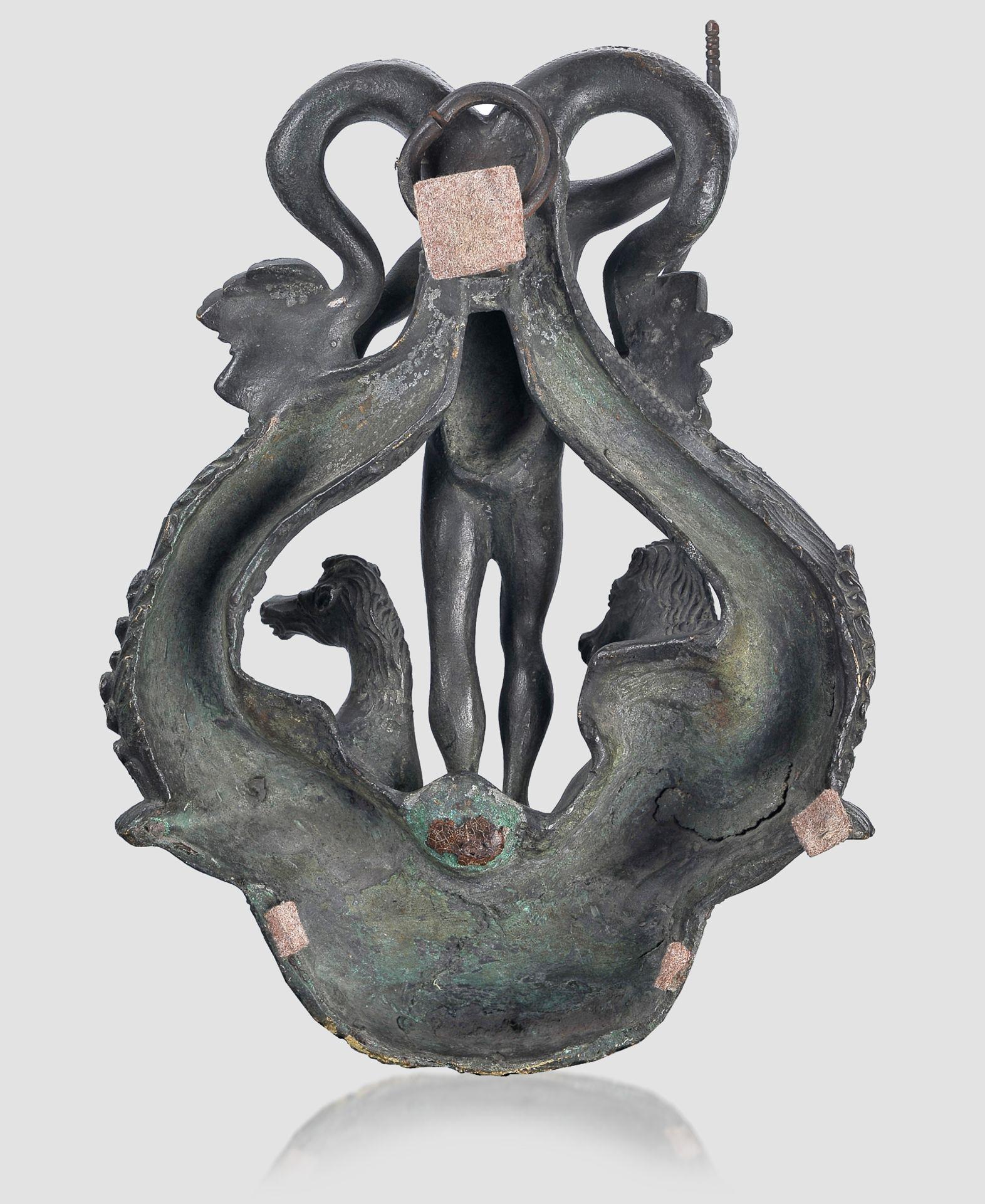 Türklopfer, Renaissancetypus, Bronze - Image 5 of 5