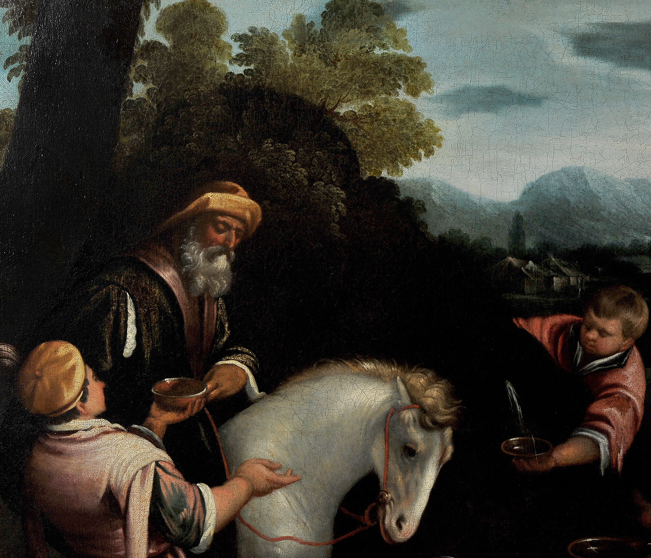 Leandro Bassano, Bassano del Grappa 1575 – 1622 Venedig (Werkstatt), Tiere an der Tränke - Image 4 of 11