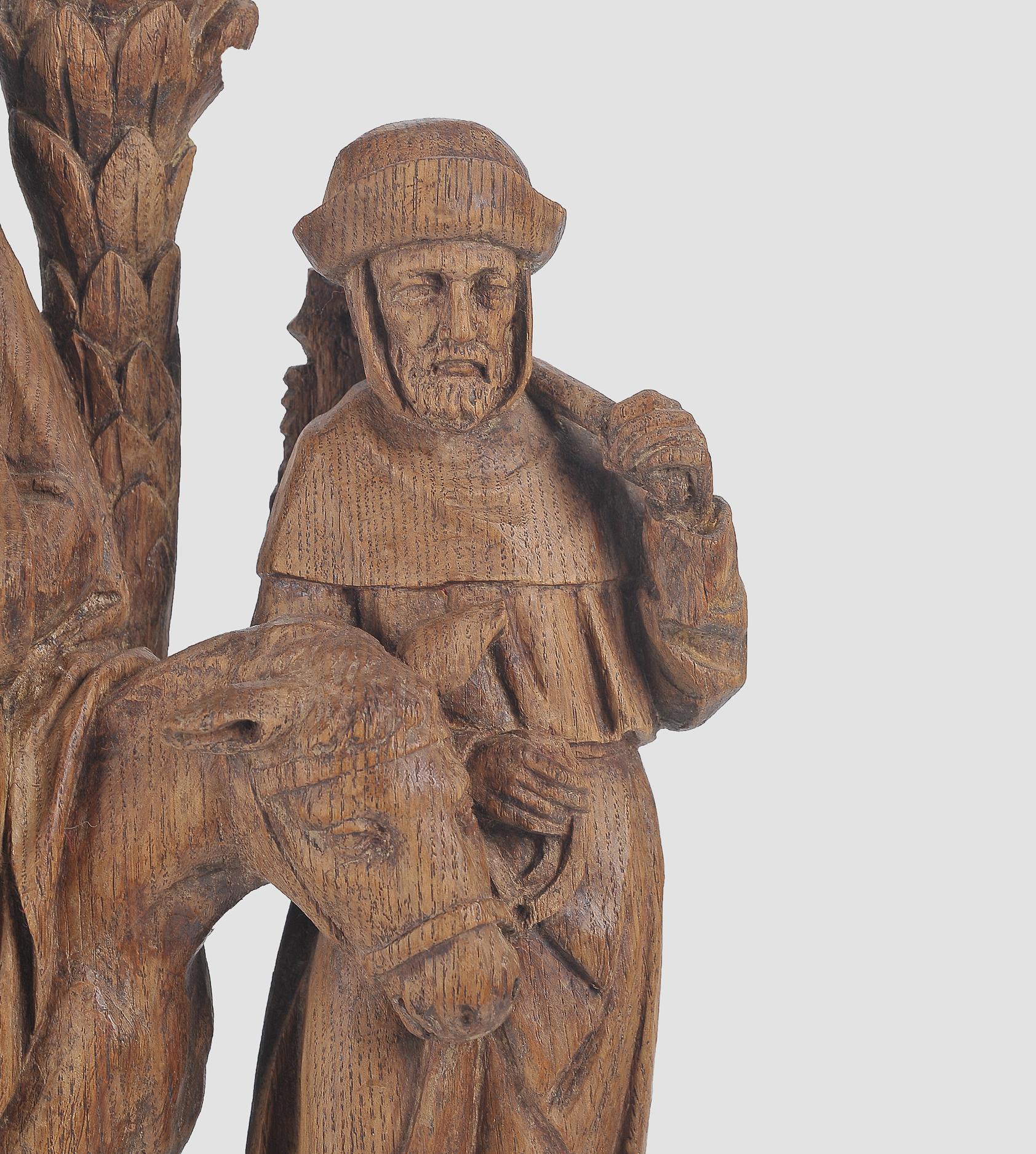 Flucht nach Ägypten, Flämisch um 1500, Eichenholz - Image 3 of 4