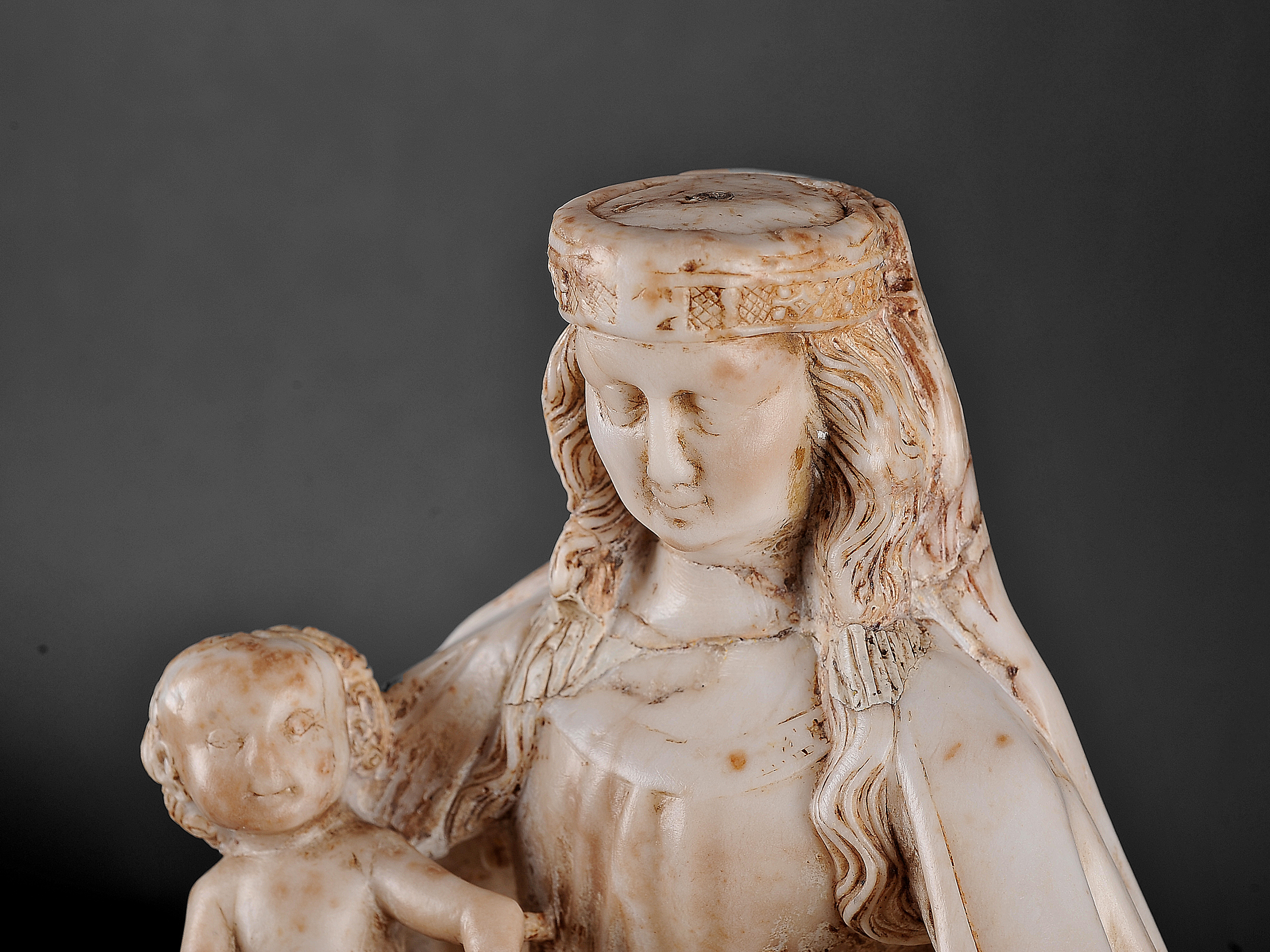 Gil de Siloe, Antwerpen 1440 – 1501 Burgos (und Werkstatt), Sitzende Madonna, um 1485/90 - Image 14 of 25