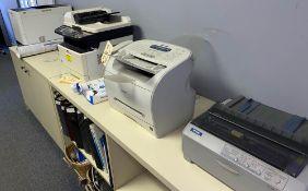IBM TYPEWRITER, EPSON DOT MATRIX PRINTER, CANON FAX, PRINTERS