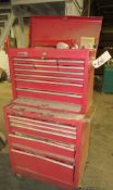 POPULAR MECHANICS ROLLING TOOL BOX, WITH CONTENTS