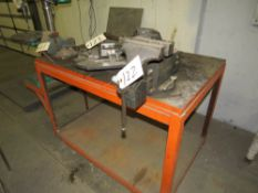 """LITTLESTOWN 7"""" BENCH VISE, WITH STEEL TABLE"""