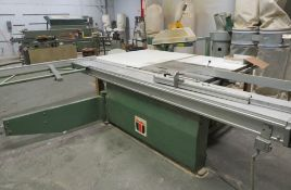 "WADKIN MDL. CP32 SLIDING TABLE SAW, 9HP, 126"" X 74"" TABLE WITH GRIZZLY 3HP DUST COLLECTION SYSTEM,"