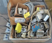 CRATE OF ELECTRICAL SUPPLIES