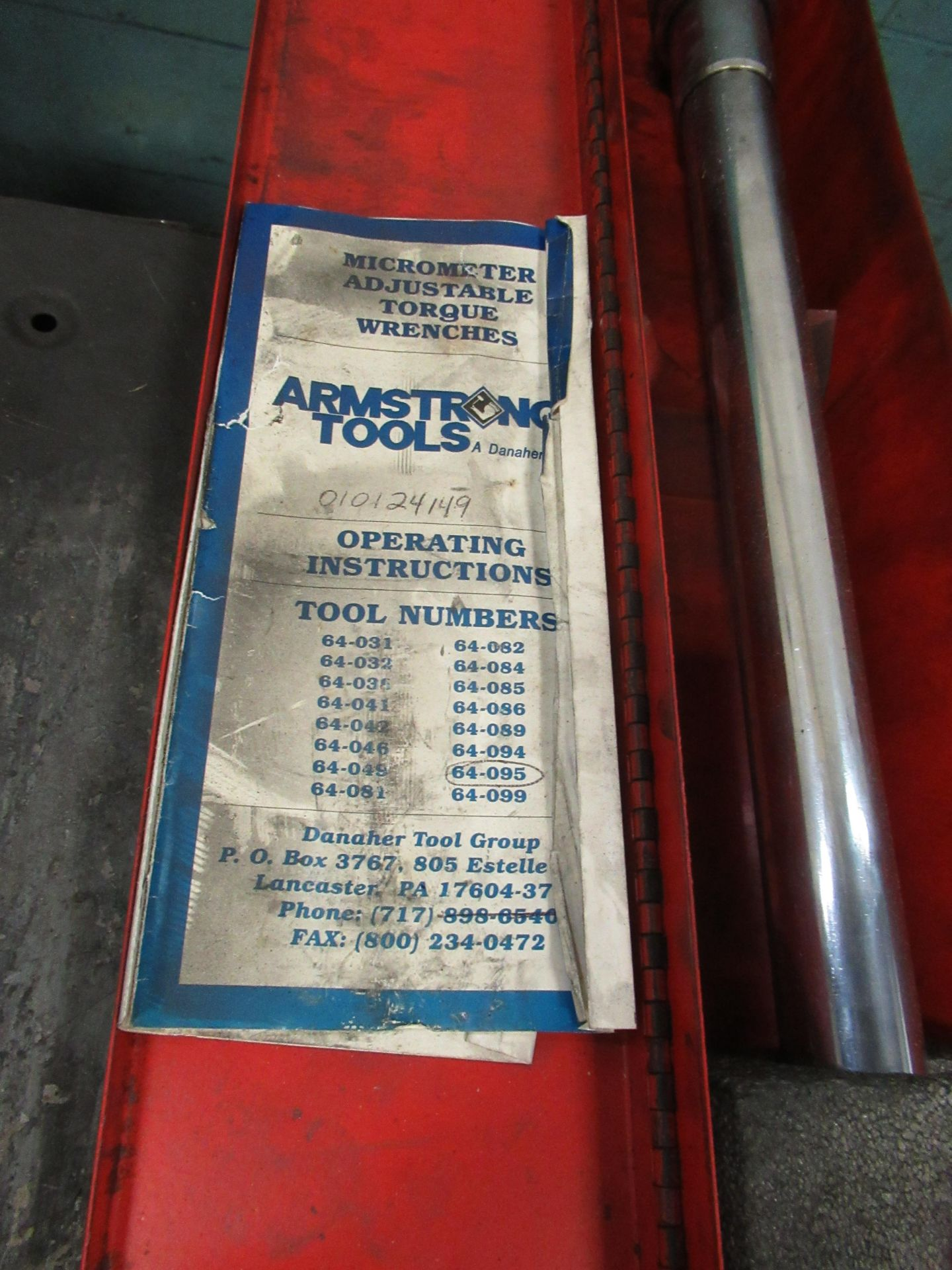 ARMSTRONG TORQUE WRENCH - Image 2 of 2