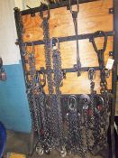 LOT OF LIFTING CHAINS & SLINGS