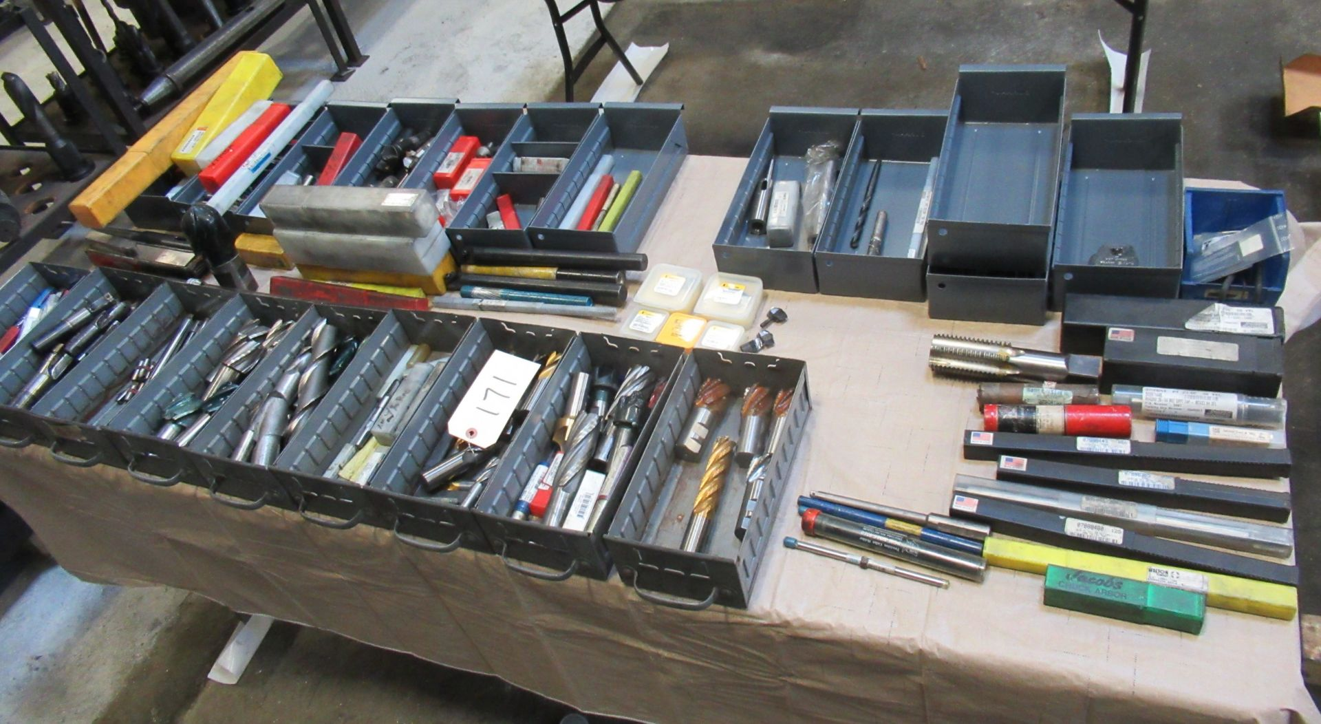 TABLE WITH ASSORTED TOOLING