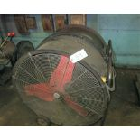 (2) ROUND PORTABLE EXHAUST FANS