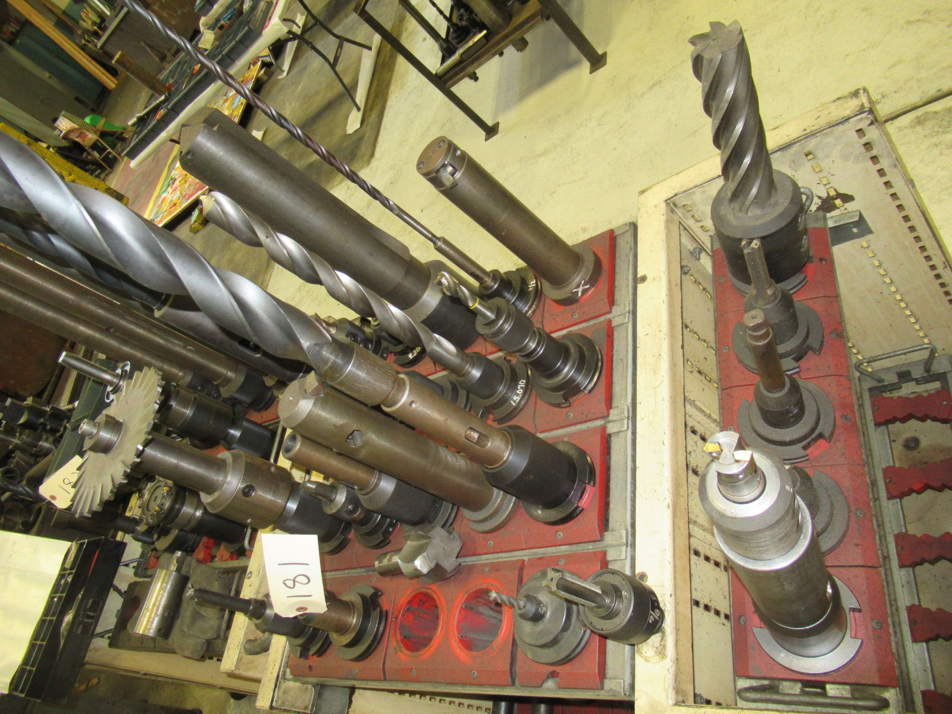 LOT OF #50 TAPER TOOL HOLDERS WITH CARTS - Image 2 of 3