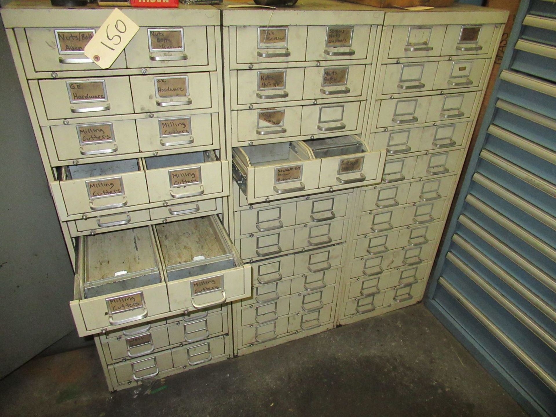 (3) MULTI DRAWER TOOL CABINETS (EMPTY)