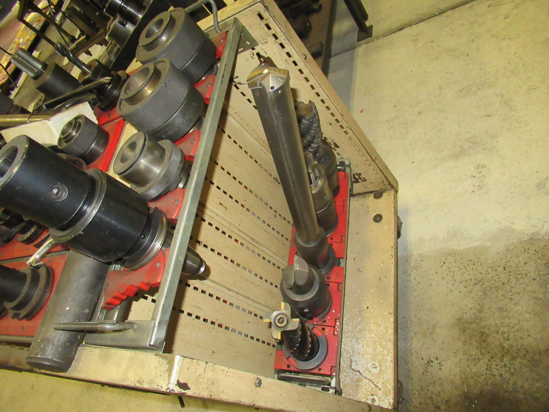 LOT OF #50 TAPER TOOL HOLDERS WITH CARTS - Image 3 of 3