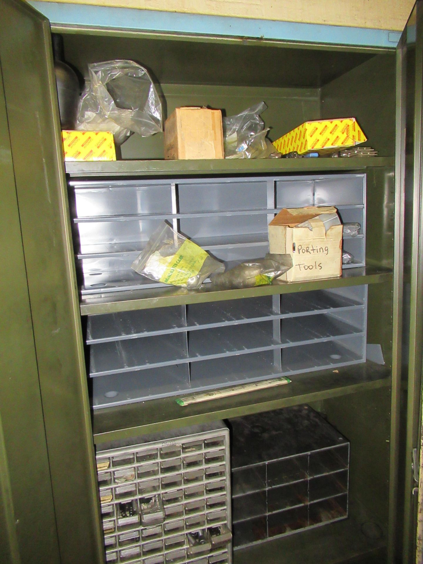 (2) STEEL CABINETS WITH ASSORTED TOOLING AND ACCESSORIES - Image 6 of 6