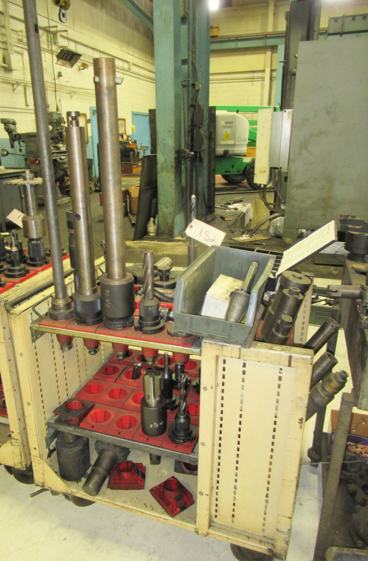 LOT OF #50 TAPER TOOL HOLDERS WITH CARTS