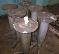 (6) STEEL WORK STANDS