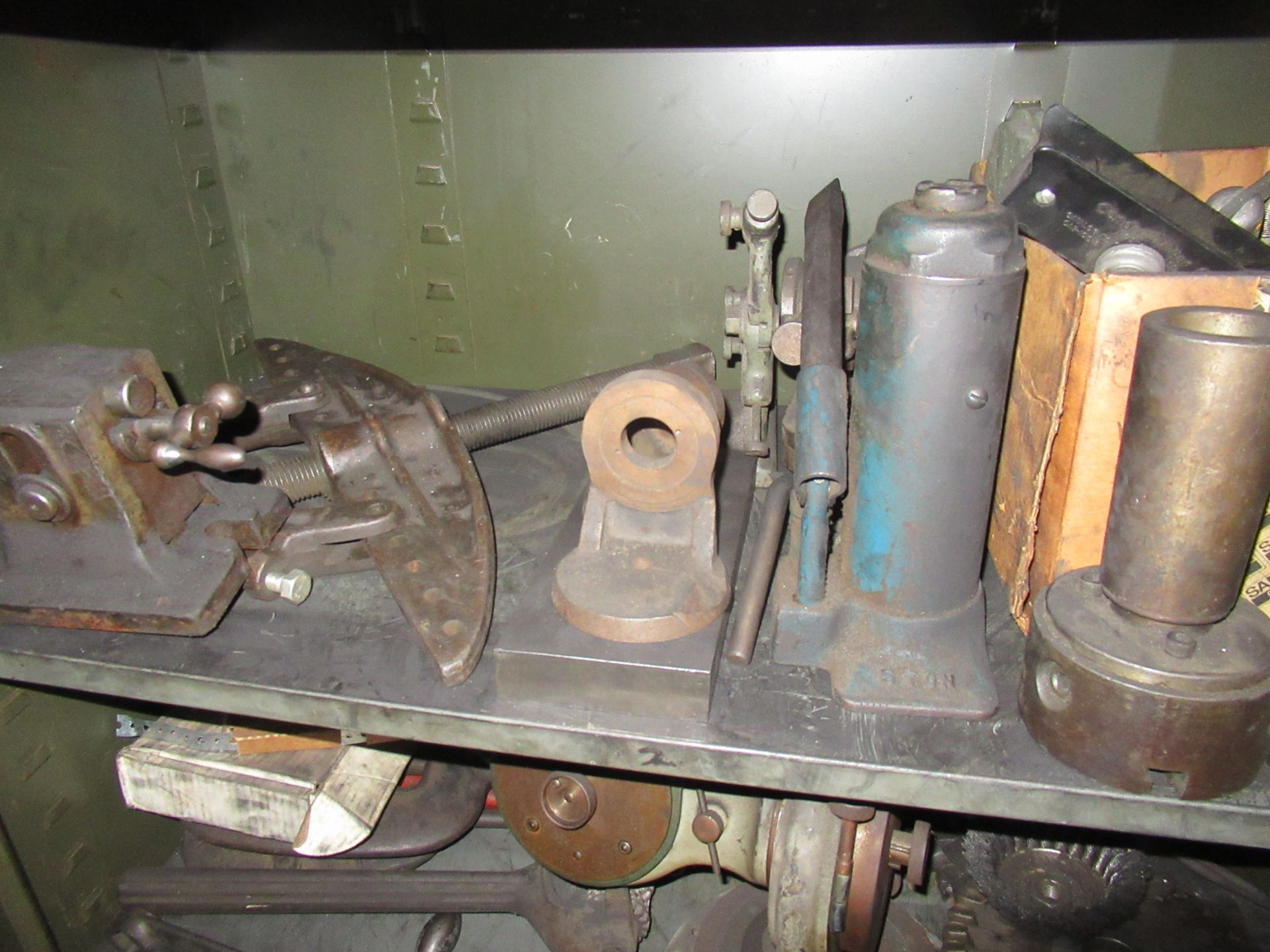 (2) STEEL CABINETS WITH ASSORTED TOOLING AND ACCESSORIES - Image 4 of 6