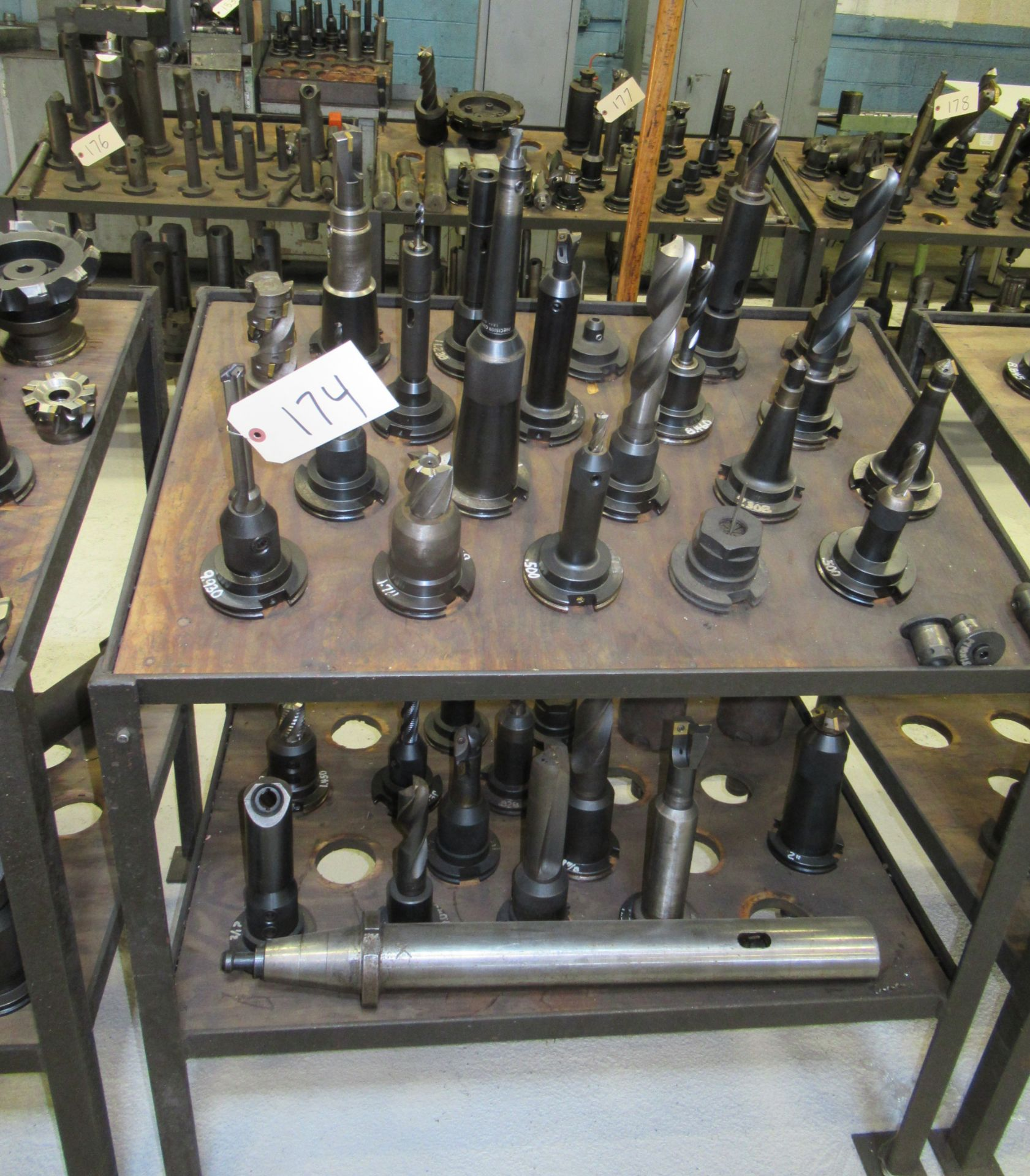 LOT OF #50 TAPER TOOL HOLDERS