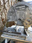 "14"" Hitachi Abrasive Chop Saw on Stand"