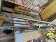 LOT OF ASSORTED BARCLAMPS UP TO 10'