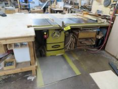 """POWERMATIC MDL.2000 TABLE SAW 5HP 40"""" EXTENSION, ACCUFENCE S/N:160720001745"""