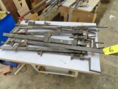 """LOT OF ASSORTED BARCLAMPS UP TO 54"""""""