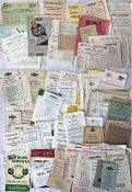 Large quantity (c170) of 1930s-60s BUS TIMETABLE LEAFLETS from a very wide range of UK operators
