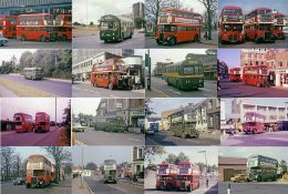 Large quantity (approx 200) of 35mm COLOUR SLIDES of London RT and RF buses/coaches taken in the