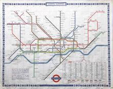 1970 (print-code 11/69) London Underground quad-royal POSTER MAP designed by Paul Garbutt and