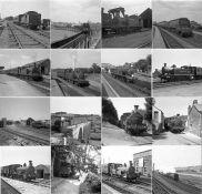 Quantity (50+) of 1940s/50s b&w STEAM RAILWAY NEGATIVES (120-size, 6cm x 6cm) taken by the railway
