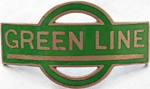 1930 Green Line Coaches Ltd driver's/conductor's CAP BADGE issued from the formation of the