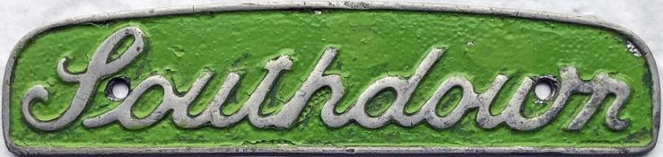 Southdown Motors Services cast-alloy BUS RADIATOR BADGE 'Southdown' likely to be ex Leyland PD2.