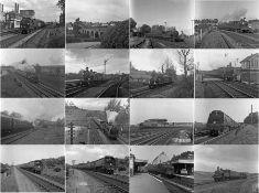 Quantity (100+) of 1950s b&w STEAM RAILWAY NEGATIVES (120-size, 6cm x 4.5cm) taken by the railway