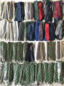 Very large quantity (250) of UNIFORM TIES from a wide variety of UK transport operators, mainly
