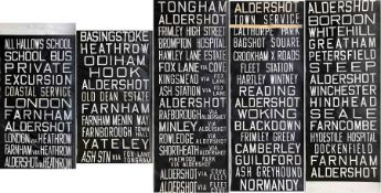 Aldershot & District Traction Company bus DESTINATION BLIND. A lengthy blind, complete and generally