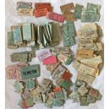 Large quantity (500+) of 1920s-70s (mostly 1940s/50s) London Underground TICKETS. Various types such
