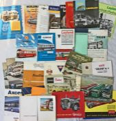 Quantity (32) of 1950s/60s BUS & COACH MANUFACTURERS' BROCHURES & LEAFLETS by Leyland, AEC, Guy,
