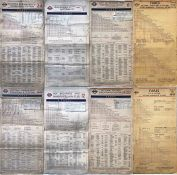 Selection (4) of London Transport Tramways FARECHARTS, all double-sided card issues and comprising