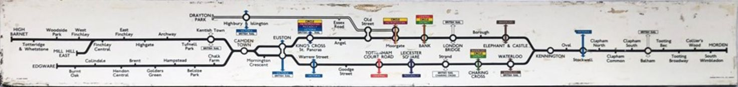 1971 London Underground Northern Line CAR DIAGRAM. Dated 4/71 and made of a formica-like material